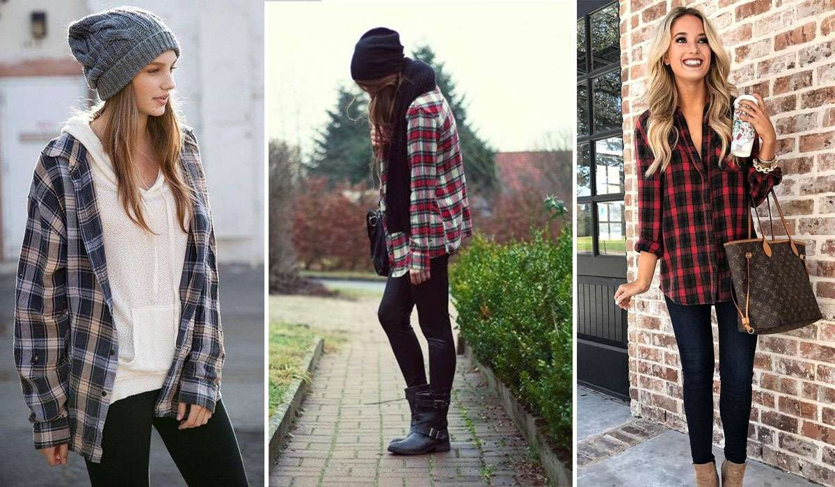 cute flannel outfit ideas